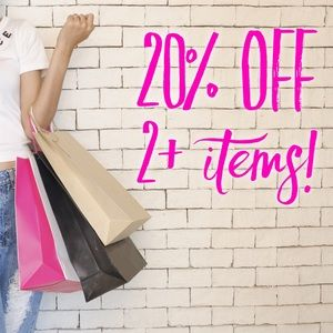 20% off 2+ items! 🛍
